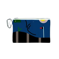 Abstract night landscape Canvas Cosmetic Bag (S)