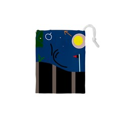 Abstract night landscape Drawstring Pouches (XS)