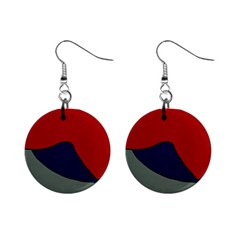 Decorative design Mini Button Earrings