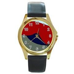 Decorative design Round Gold Metal Watch