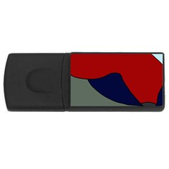 Decorative design USB Flash Drive Rectangular (2 GB)