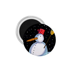 Lonely snowman 1.75  Magnets
