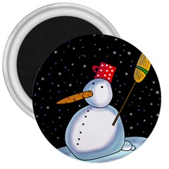 Lonely snowman 3  Magnets
