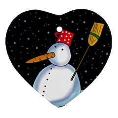 Lonely snowman Ornament (Heart)