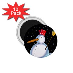 Lonely snowman 1.75  Magnets (10 pack)