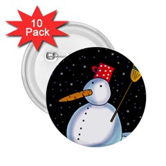 Lonely snowman 2.25  Buttons (10 pack)