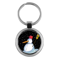 Lonely snowman Key Chains (Round)