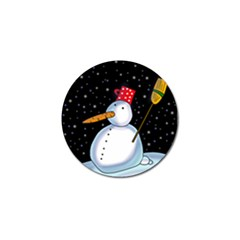 Lonely snowman Golf Ball Marker