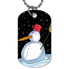 Lonely snowman Dog Tag (Two Sides)