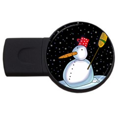 Lonely snowman USB Flash Drive Round (2 GB)