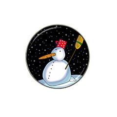 Lonely snowman Hat Clip Ball Marker