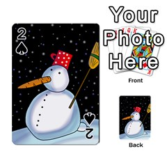 Lonely snowman Playing Cards 54 Designs