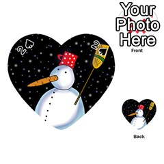 Lonely snowman Playing Cards 54 (Heart)