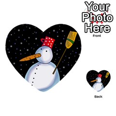 Lonely snowman Multi-purpose Cards (Heart)