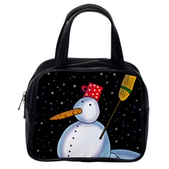 Lonely snowman Classic Handbags (One Side)