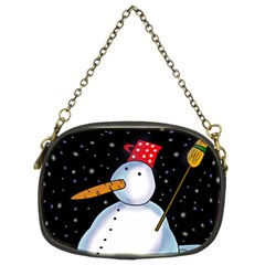 Lonely snowman Chain Purses (Two Sides)