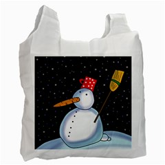 Lonely snowman Recycle Bag (Two Side)