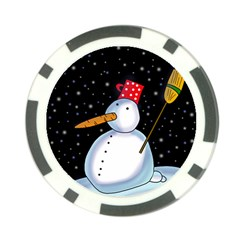 Lonely Snowman Poker Chip Card Guards (10 Pack)