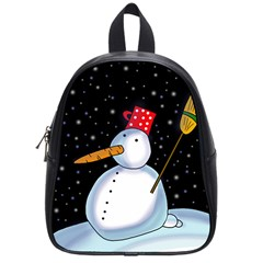 Lonely snowman School Bags (Small)