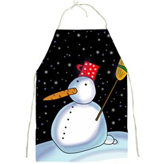 Lonely snowman Full Print Aprons