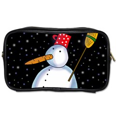 Lonely snowman Toiletries Bags 2-Side