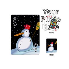 Lonely snowman Playing Cards 54 (Mini)