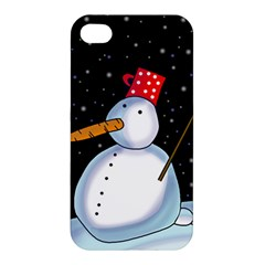 Lonely snowman Apple iPhone 4/4S Hardshell Case
