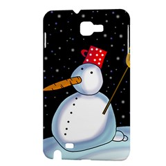 Lonely snowman Samsung Galaxy Note 1 Hardshell Case