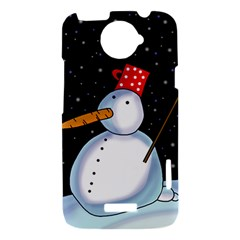 Lonely snowman HTC One X Hardshell Case