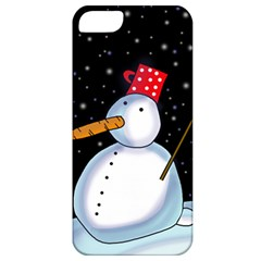 Lonely snowman Apple iPhone 5 Classic Hardshell Case