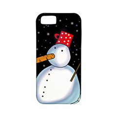 Lonely snowman Apple iPhone 5 Classic Hardshell Case (PC+Silicone)
