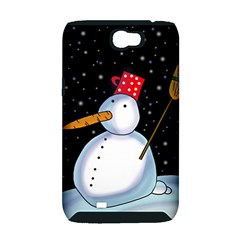 Lonely snowman Samsung Galaxy Note 2 Hardshell Case (PC+Silicone)