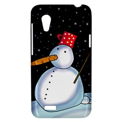 Lonely snowman HTC Desire VT (T328T) Hardshell Case