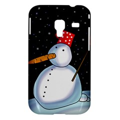 Lonely snowman Samsung Galaxy Ace Plus S7500 Hardshell Case