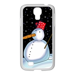 Lonely snowman Samsung GALAXY S4 I9500/ I9505 Case (White)