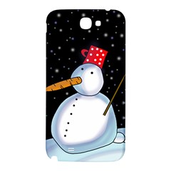 Lonely snowman Samsung Note 2 N7100 Hardshell Back Case