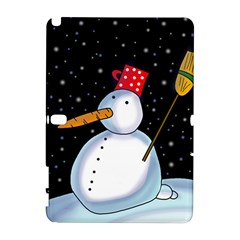 Lonely snowman Samsung Galaxy Note 10.1 (P600) Hardshell Case