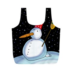 Lonely snowman Full Print Recycle Bags (M)