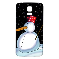 Lonely snowman Samsung Galaxy S5 Back Case (White)