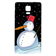 Lonely snowman Galaxy Note 4 Back Case