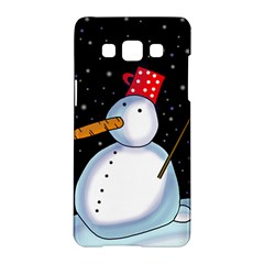 Lonely snowman Samsung Galaxy A5 Hardshell Case