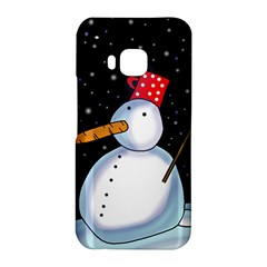 Lonely snowman HTC One M9 Hardshell Case