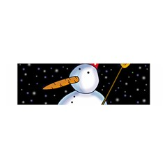 Lonely snowman Satin Scarf (Oblong)