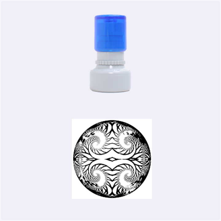 Fractals Ball About Abstract Rubber Round Stamps (Small)