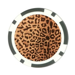 Leopard Print Animal Print Backdrop Poker Chip Card Guards (10 Pack)