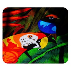 Papgei Red Bird Animal World Towel Double Sided Flano Blanket (small)