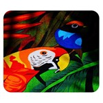 Papgei Red Bird Animal World Towel Double Sided Flano Blanket (Small)  50 x40 Blanket Back