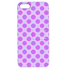 Pastel Pink Mod Circles Apple Iphone 5 Hardshell Case With Stand