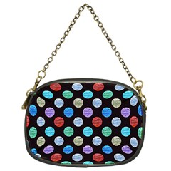 Death Star Polka Dots In Multicolour Chain Purses (one Side)