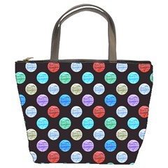 Death Star Polka Dots in Multicolour Bucket Bags